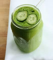 cucumber smoothie (choosing raw)