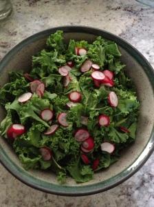 radish kale salad