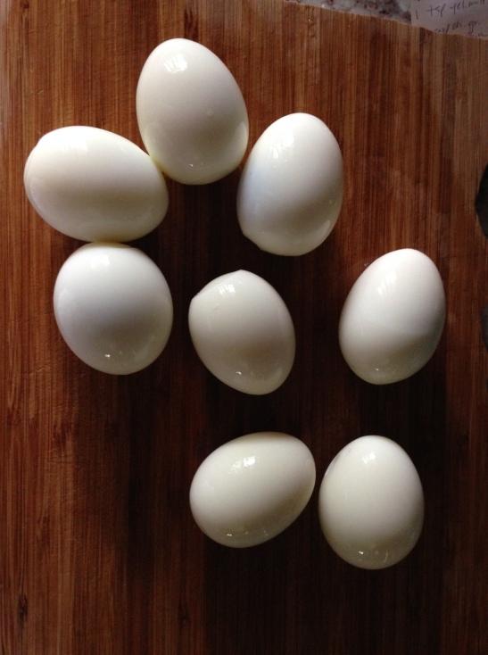 eggs hard boiled