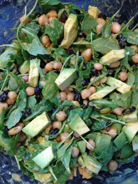Arugula, Bean and Avocado Salad