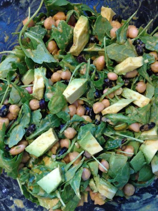 Arugula, Bean and Avocado Salad